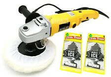 "7"" VARIABLE 6-SPEED ELECTRIC CAR POLISHER/BUFFER W/ 2 Little Trees Air Freshener"