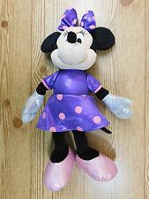 """Minnie Mouse Disney Purple Dress 15"""" Ty Sparkle Beanie Baby Plush Doll 2013 Toy"""