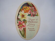 CWW1 VINTAGE TIGER&MADONNA LILIES EXQUISITE PERFUME CARD