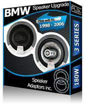 BMW 3 Series E46 Rear Door Speakers Fli car speakers + speaker adapter 180W
