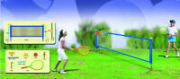 2.4m Tennis Volleyball Badminton Net With 2 Rackets & Balls Garden Game 101038