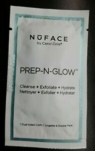 New NuFACE By Carol Cole Prep-N-Glow 1 Dual Sided Cleansing Cloth