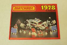 ESF-01100Katalog Matchbox 1978, mit Gebrauchsspuren,ohne Originalverpackung