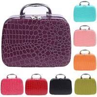 Woman Transparent Travel Cosmetic Make Up Toiletry Bag Zipper Pouch Handbag Case