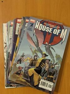 House of M – Complete Set + 2nd Series 1-3 + One Shot and Sketch Book (2005-15)