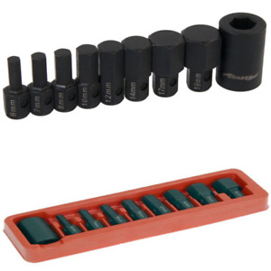 "9pc Hex Bit Socket Set 1/2"" Drive Hexagon allen key 6 7 8 10 12 14 17 19mm"