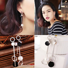 Lady Korea Style Fashion Geometric Asymmetric Earrings Chandelier Stud Jewelry