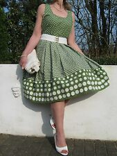 Stunning Vintage 1940/50s Style Polka Dot Swing Summer Dress 12