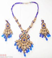 Gioielli etnici e tribali blu in pietra principale perla
