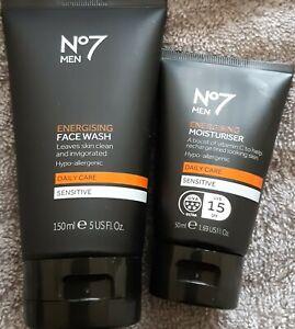 No7 Men Energising Face Wash 150ml & Energising Moisturiser 50ml NEW