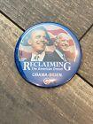President Barack Obama Joe Biden Reclaiming The American Dream 3 Inch Button Pin