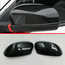 Carbon fiber Style Side Mirror Cover Trim For Jeep Compass 2017 2018