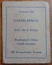 1898 Advertisement Queen Royal Needle Pack Castelberg'S Jewelers Washington Dc