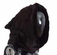 51dbb28ccef NWT  4600 DOLCE   GABBANA Purple Weasel Fur Crochet Hood Scarf Hat One Size