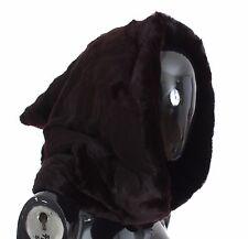 NWT $4600 DOLCE & GABBANA Purple Weasel Fur Crochet Hood Scarf Hat One Size