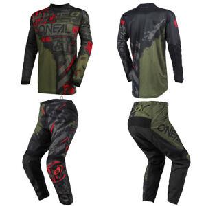 O'Neal Element Ride Green Jersey Pants motocross MX dirt bike riging gear combo