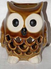CERAMIC OWL TEA LIGHT CANDLE HOLDER NWTS
