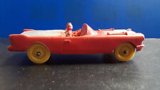 Vtg Collectible Rubber Auburn Rubber Corp. Red Cadillac With Passengers Toy Car