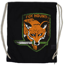 FOX HOUND GROUP LOGO WOMAN Turnbeutel Metal Game Gear MGS Snake Eater Solid