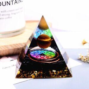 Amethyst Pyramid Crystal Healing Chakra Energy Orgone Ornaments Decor 2 Styles