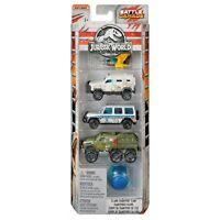 Matchbox Jurassic World Battle Damage Island Transport Team Die-cast Cars 5-Pack