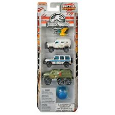 Matchbox Jurassic World Battle Damage Island Transport Team Die-cast Cars 5-Pack