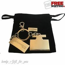 ☀️ NEW Dolce & Gabbana The One Gold Key Ring, Dog Tag & Velvet Gift Pouch D&G