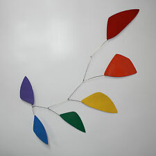 Abstract Modern Tribute Rainbow Hanging Mobile Painted Steel New Free Shipping