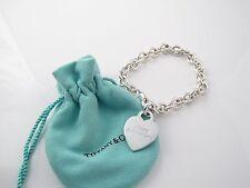 Tiffany & Co Silver Happy Anniversary Heart Charm Bracelet!