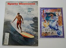 Vintage 1966 Sports Illustrated Surfboard Phil Edwards & 1995 SWF Program Hobie
