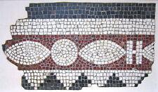 ANCIENT ROMAN MOSAIC PANEL FRAGMENT, circa 1st - 2nd Century A.D.