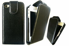 100% Real Leather Protective Classic Flip Case Cover For Apple iPhone 4G 4S