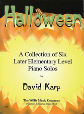 """Halloween"" Later Elementary Level Piano Solos Music Book-New On Sale Songbook!"