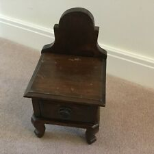 ANTIQUE SCRATCH BUILT WOODEN CANDLE DRAW STAND
