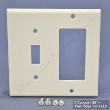 Leviton White GFCI Decora Receptacle and Toggle Switch Cover Wall Plate 80405-W