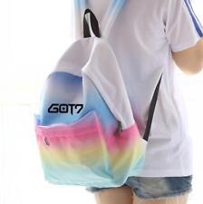 Kpop Got7 Jackson Mark Pink Blue Canvas Bag Student Backpack