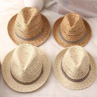 Verano Mujeres Sombreros para el Sol Bolas de Borla Dulce Hombres Sombreros H9U6
