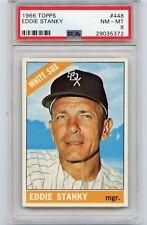 1966 TOPPS BASEBALL #448 EDDIE STANKY, CHICAGO WHITE SOX - PSA 8 NM-MT (35372)