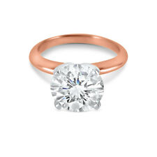 CZ Cubic Zirconia Solitaire Engagement Ring 3 Carat 4 Prong heavy setting