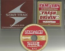 FAM LAY Fresh N Drivin INSTRUMENTAL & CLEAN PROMO DJ CD single PHARRELL WILLIAMS