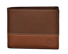 Timberland Men's Commuter Leather Bifold Wallet Brown-Tan