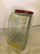 Antique  Mr Peanut Planters Glass Display Jar USA