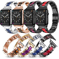 Mix Color Stainless Steel Strap Links Bracelet For Apple Watch Series 4 3 2 1 L
