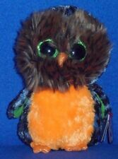 "TY BEANIE BOOS - MIDNIGHT the 6"" HALLOWEEN OWL - MINT with MINT TAG"