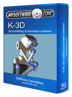 K-3D Modeling Animation Design Studio Software Computer Program