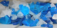 1 LB BLUE AQUA TEAL ICE SEAGLASS SEA GLASS - SEASHELLS CRAFTS WEDDINGS MORE