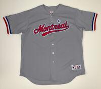 Vintage 90s Montreal Expos MLB Jersey Size Men's XL Gray MLB Baseball