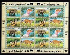 UNO New York 1997 postfrisch MiNr.  732-735  Gefährdete Arten