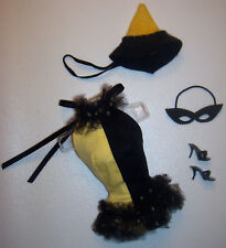 Vintage Barbie Doll Masquerade Halloween Costume #944 Hat Mask Shoes 1963