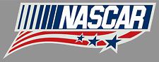 "NASCAR Patriotic Premium Vinyl Bumper Decal Sticker - 9"" Full Color - Racing USA"